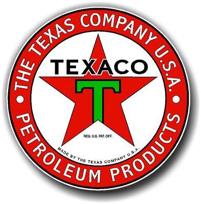 "12"" Texaco Petroleum Products Gasoline Oil Vinyl Decal For Gas Pump Lubster"