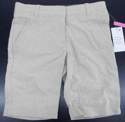 Girls Nautica $32 Khaki Skinny Bermuda Uniform/Casual Shorts Size 7 - 16