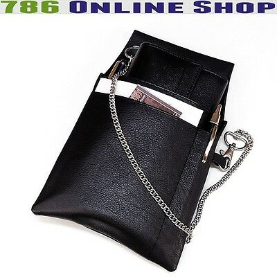 Leather Server Set Waiter Holster + Waiter Wallet (181B) Wallet Halter Bag New