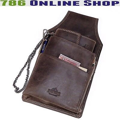 Leather Server Set Waiter Holster + Waiter Wallet (182B) Wallet Halter Bag New