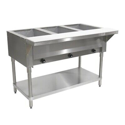 "Advance Tabco HF-3G 47"" 3-Well Gas Steam Table 