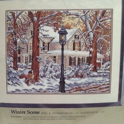 "Something Special Needlepoint Kit WINTER SCENE 20x16"" #30550"