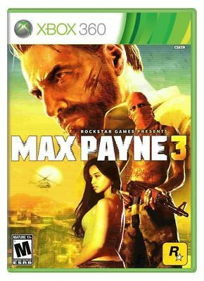 New Factory Sealed Microsoft Xbox 360 Max Payne 3