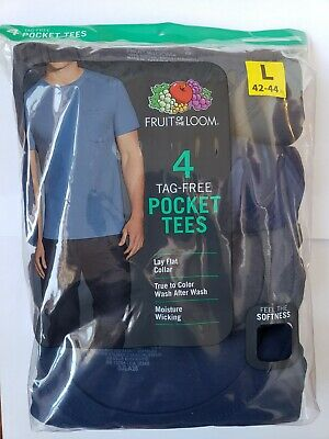 Fruit of the Loom Men's Pocket T-shirt 5pk Asst Colors