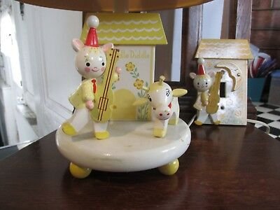 Vintage Irmi Nursery Originals Hey Diddle Diddle Lamp And Switch Plate