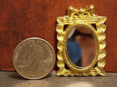 Dollhouse Miniature Metal Gold Picture Frame 1:12 inch scale Z13 Dollys Gallery