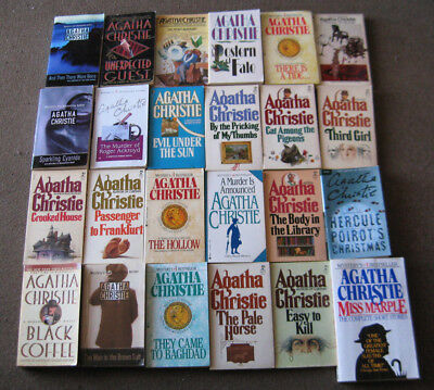 Lot 29 Agatha Christie mysteries.  Paperbacks.