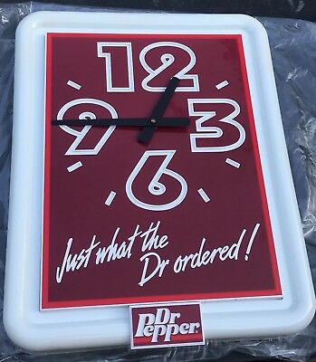 Vintage Rare Howard Dr. Pepper Advertising Battery Operated Wall Clock *NEW*