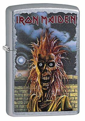 Zippo Iron Maiden Debut Album Lighter, Street Chrome Finish #29433