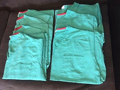 7 Hospital Surgical Medical Reversible Scrubs Tops XL Unisex Green Used