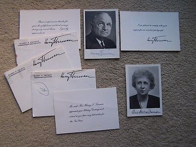 Harry Truman & Bess Truman Signed Autographed Photographs, Envelopes