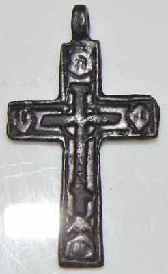 Monastic Medieval Golgotha or Calvary Cross Bronze Crucifix Orthodox Church Monk