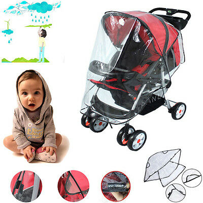 Universal Pushchair Buggy Rain Cover Baby Transparent Stroller Wind Dust Shield