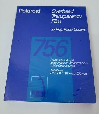 Polaroid 756 Overhead Transparency Film for Plain Paper Copiers 100 Sheets NEW