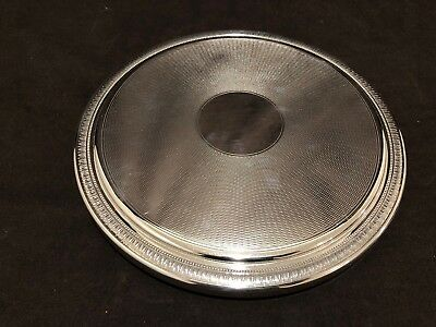 """Christofle Malmaison 9 1/2"""" Large Round Trivet Footed France Silver Plate #C"""
