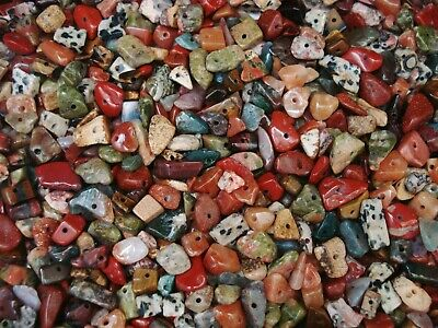 Gemstone Chips 50g Earth Tones Mix 200pc Jewelry Bead Semi Precious FREE POSTAGE