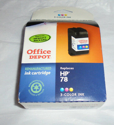 HP 78 (Office Depot Replacement)  Tri 3-Color Remanufactured  ink Cartridge NIP
