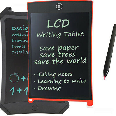 """8.5""""/12""""LCD Writing Learning Tablet Pad for Boogie Board Jot Style eWriter Board"""