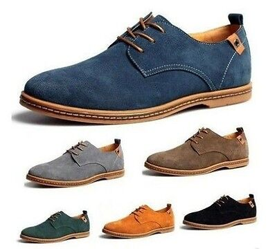 2019 Men's Suede European style leather Shoes oxfords Casual