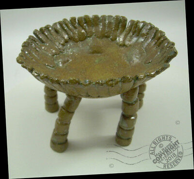 Artist High Footed Pottery BOWL Arts + Crafts SIGNED Surreal Enchanted Playful