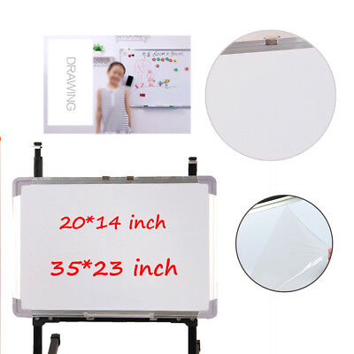 Small & Large Marker Pen Magnetic White Board Dry Erase Board Eraser Office New