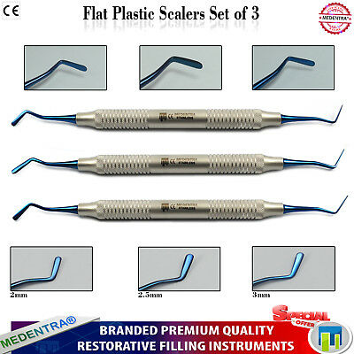 Medentra® Flat Plastic Composite Filling Restoration Dental Scalers Titanium CE