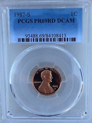 1987-S Lincoln  Proof PCGS PR69RD DCAM  Shipping $$ on First Coin Only