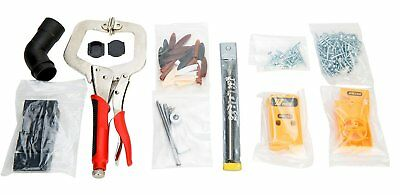 Jig Pocket Hole Kit System Pocket Hole Drill with Clamp, Screws and Plugs Tool