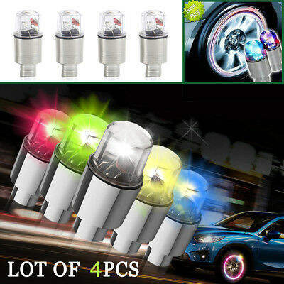 2//4 Pc Battery Include Flash LED Bicycle Car Motorcycle Wheel Tyre Valve Lights