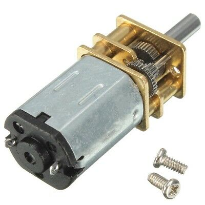 DC6V 12V 30/100-300RPM Micro Gear Motor Electric Motor w/Metal Gearbox Wheel N20
