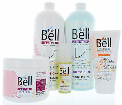 HairBell Shampoo + Conditioner + Maske + HairCream + Serum wie Hair Jazz / Hair+