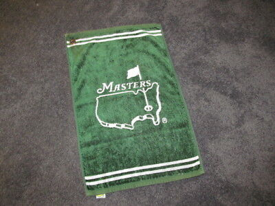 USED GREEN RARE MASTERS AUGUSTA NATIONAL VINTAGE GOLF BAG Towel 58 x 37 CM