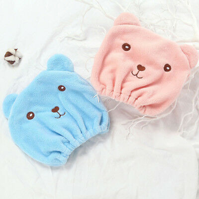 Cartoon Hair Turban Quickly Dry Hair Hat Towel Head Wrap Shower Cap for Bath Spa