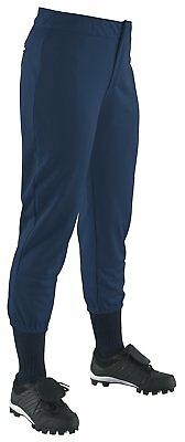 Wilson Women's Low-Rise Heavyweight Poly Warp Knit Softball Pant, Navy, Medium