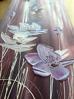 Original Oil And Acrylic Painting, Handmade Direct From The Artist- Purple