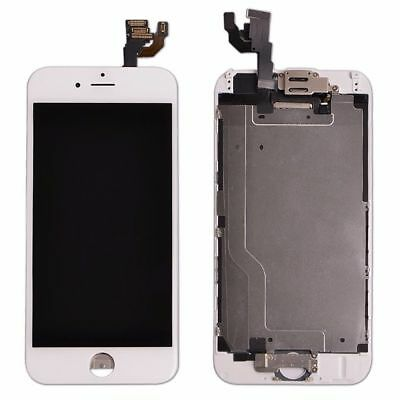 """White Screen For iPhone 6 4.7""""Replacement Digitizer Touch LCD Home Button Camera"""