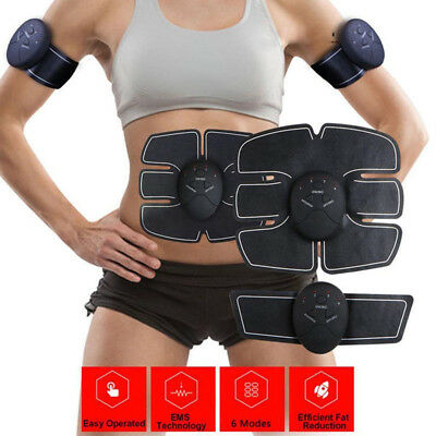 EMS Wireless Rechargeable Abdominal Muscle Massager Toner Fit Body Building lot*