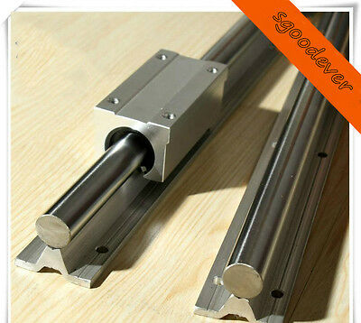 2X SBR10-1400mm 10MM FULLY SUPPORTED LINEAR RAIL & 4 pcs SBR10UU Block Bearing