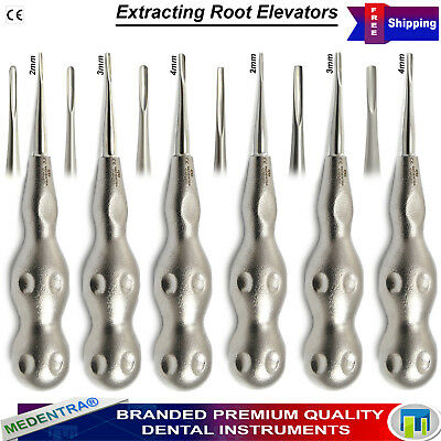 Dental Luxating Surgical Tooth Extracting Root Tip Oral Surgery Elevators 6Pcs