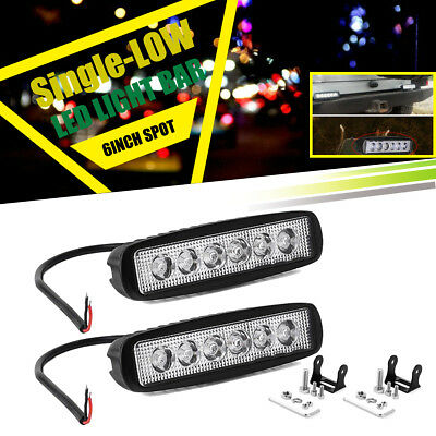 2x 7INCH 36W LED WORK LIGHT BAR OFFROAD ATV UTV FOG TRUCK LAMP 4WD 12V 6""