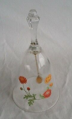 beautiful collectable Avon Glass Bell - 24% Full Lead Crystal flower Bell