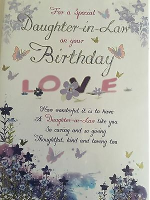 Daughter in law happy birthday card lovely detail lovely verse daughter in law birthday card bookmarktalkfo Images