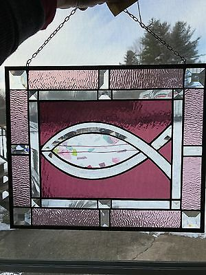 Beveled Religeous Fish Panel Hand Made in the USA