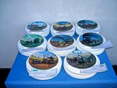Set Of 8 Danbury Mint *farmland Memories* John Deere Tractor Plates