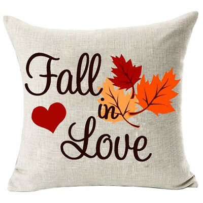Casual Home Decor Fall in Love Cotton Linen Pillow Covers 18x18inch Wedding Gift