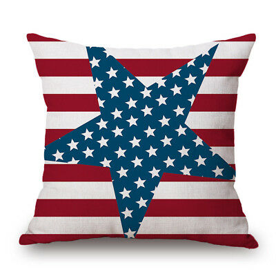HAPPY CAMPERS Stars Room Decor Ornate Sofa Waist Throw Cushion Cover Pillow Case