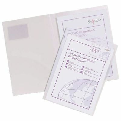 Snopake TwinFile A4 Presentation File Clear (Pack of 5) 14030 [SK05984]