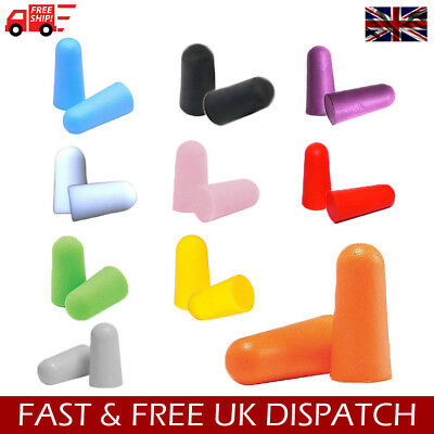 3M Foam Soft Reusable Earplugs Quiet Noise Reduction Ear plugs 10 Colours & Qty