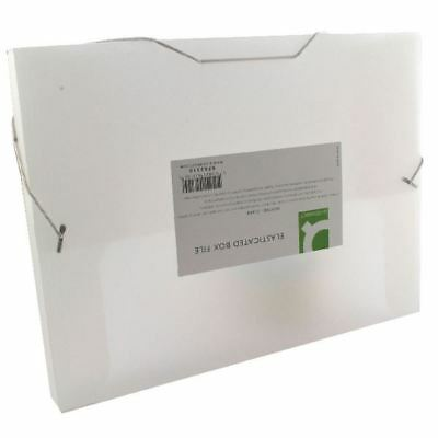 Q-Connect Elasticated Box File Clear, Makes data retrieval simple  [KF02310]