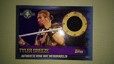 Topps wwe slam attax 10th edition - Tyler Breeze mat memorabilia.